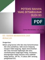 Kuliah 6_Potensi Bahaya Yang Ditimbulkan Oleh B3