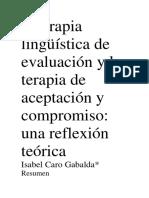 La Terapia Lingüística de Evaluación y La