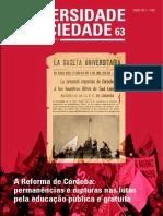 Revista Universidade e Sociedade Nº63
