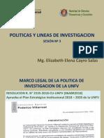 POLITICAS Y LINEAS DE INVESTIGACION SESION N° 3 UNFV
