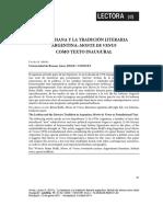 LA LESBIANA Y LA TRADICIÓN LITERARIA ARGENTINA
