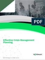 Effective Crisis Management Planning WorldAware