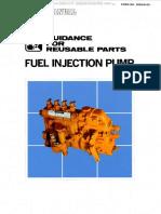 Manual Guidance Reusable Parts Komatsu Fuel Injection Pumps Failure Signs Diagnosis Reuse Examples Construction Function