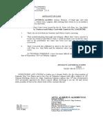 Affidavit of Loss ST Peter 2