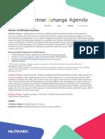 Partner Xchange London Detailed Agenda