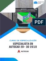 Brochure Autocad 2d 3d 2019