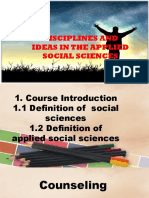 Disciplines and Ideas in the Applied Social Sciences