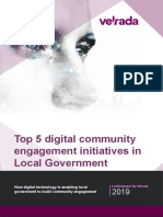 Top 5 digital community engagement initiatives in Local Government
