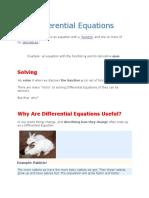 Differential Equaion