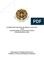 Guideline for Soil Bearingcapacity and Geotechnical Investigation of Buildings 2014