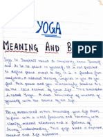 Physical Education (Yoga)