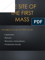 The Site of the First Mass