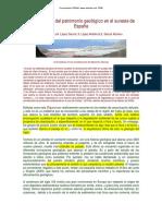 Conservacion patrimonio geologico en españa