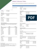 Normal Paediatric Lab Values