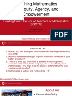 Math Equity, Agency, and Empowerment Talk