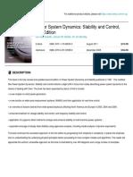 Description about Power System Dynamic