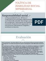 Therry Dominguez - Política de Responsabilidad Social Empresarial