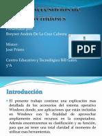 Los Accesorios de Windows