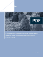 Challenges and Priorities for Global Mental Health Research in LMIC