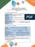 Guia de Actividades y Rubrica de Evaluacion - Etapa 2 - Preparación