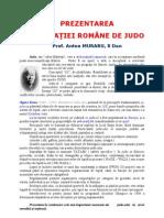 PREZENTAREA FEDERAŢIEI ROMÂNE DE JUDO