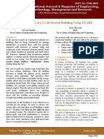 Optimized Design of a G+20 Storied Building Using ETABS