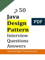 Top 50 Java Design Pattern Interview Questions