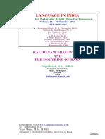 Mund Tripti Kalida's Shakuntala and the Doctrine of Rasa