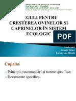 Reguli Pentru Creșterea Ovinelor Și Caprinelor În Sistem Ecologic- Mihăilă Larisa Și Andreea Dămoc