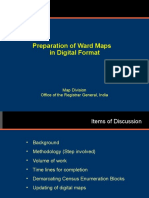 Preparation of ward maps in Digital format Map Division Presentation India.ppt