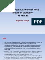 Qua Chee Gan v. Law Union Rock - Breach of Warranty.pptx
