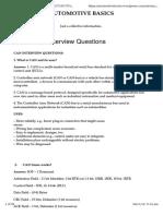 Automotive Interview Questions
