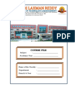 Course File Format for 2015-2016
