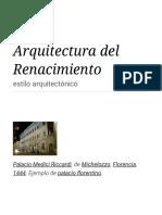 Arquitectura Del Renacimiento -