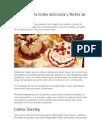 Rellenos Para Tortas Deliciosos y Fáciles de Preparar