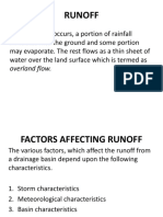 Factors Affecting Runoff, Estimating the Volume of Storm Runoff