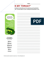Frog Idiom Writing Activity