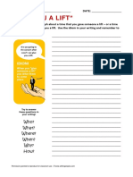 Give You a Lift Idiom Writing Activity