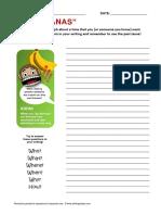 Go Bananas Idiom Writing Activity