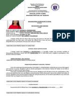 Official Entry Form. Dfot 2019