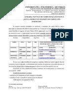 Anunt Testare Erasmus Upb Martie 2019