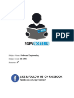 RGPV software engineering