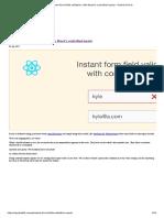 react form field validation