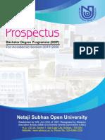 20190617 NSOU BDP Prospectus 2019