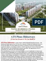 ATS Pious Hideaways sector 150 Noida