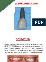 Dental Implantology.