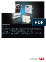 ABB VD4 Draw-out MV Breaker TK 520_E