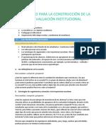 Unos nodos para la evaluación institucional