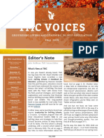 TMC Voices Newsletter Fall 2019