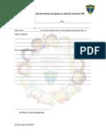 Carta de Solicitud de Término de Apoyo en Aula de Recursos PIE Plantilla